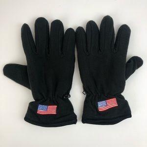 American flag black polyester gloves unisex